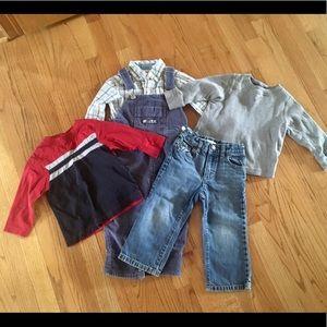 5 pc boy shirt and pant set
